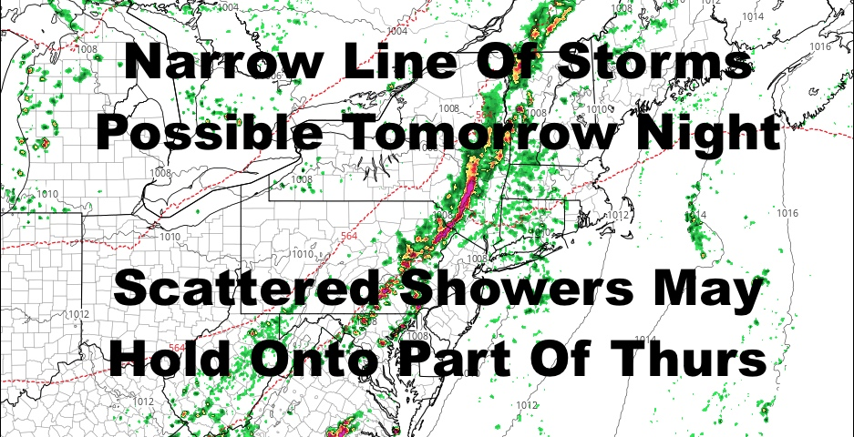 NYC Brief Storms Possible Overnight Tomorrow
