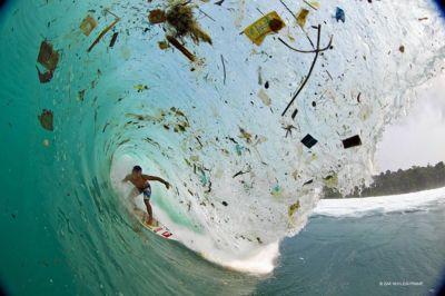 Surfing trash island: photographer captures startling ...