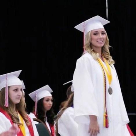 Hailie Jade Scott Mathers graduated from High School.