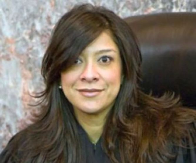 The son of New Jersey federal judge Esther Salas, pictured, was killed and her husband critical after both were shot by a gunman dressed as a deliveryman at their North Brunswick home on Sunday, July 19, 2020.