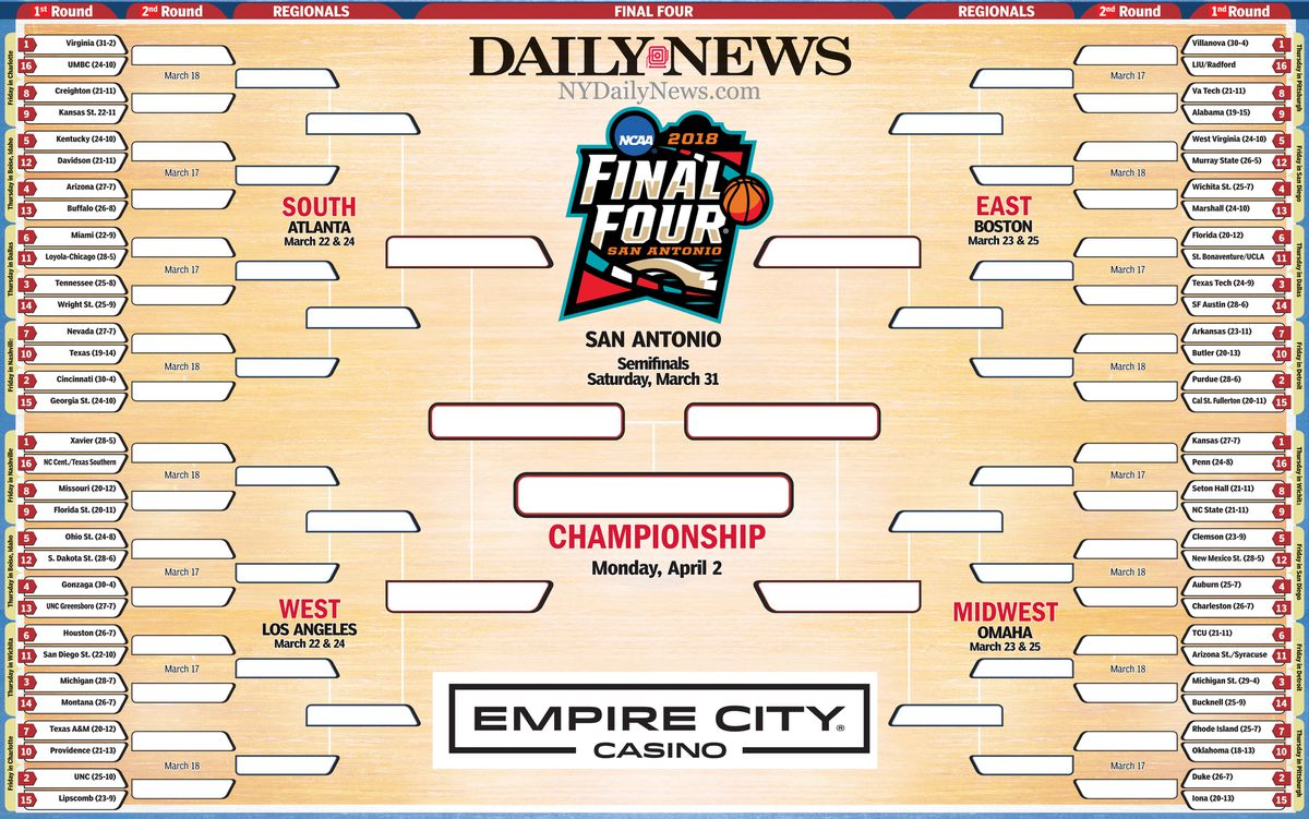 print your own brackets