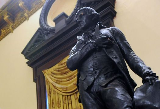 Statue of Thomas Jefferson in City Council Chambers in Manhattan, New York.