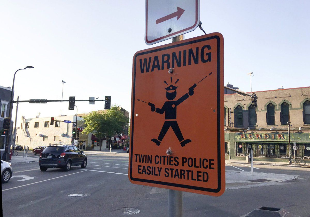 Police Easily Startled Warning Signs Pop Up Around
