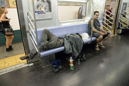 NYPD won't immediately arrest homeless violating rules on subways ...