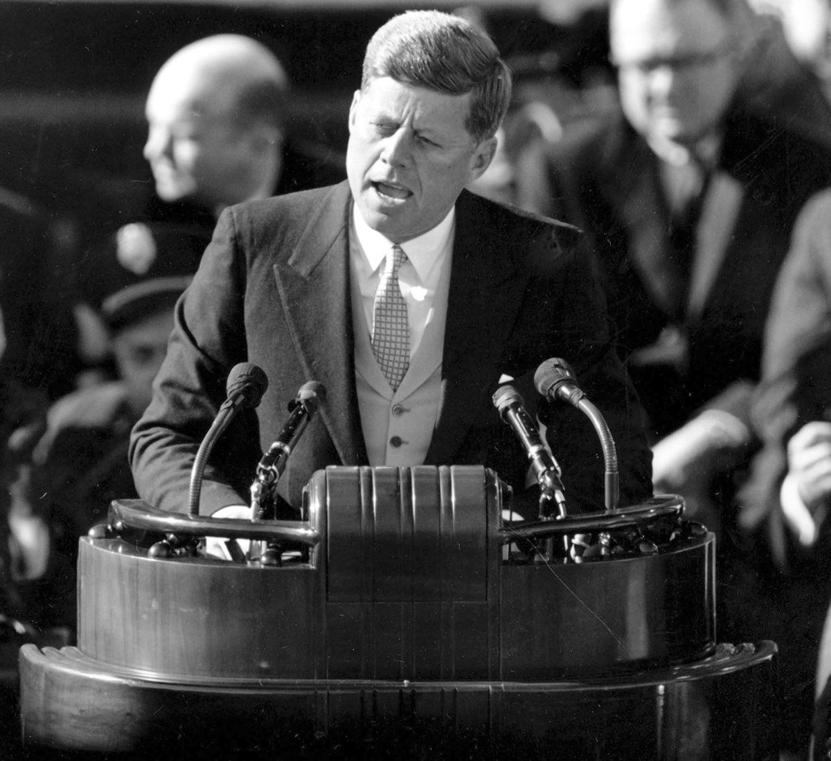John F Kennedy Is Sworn In As The 35th President Of The
