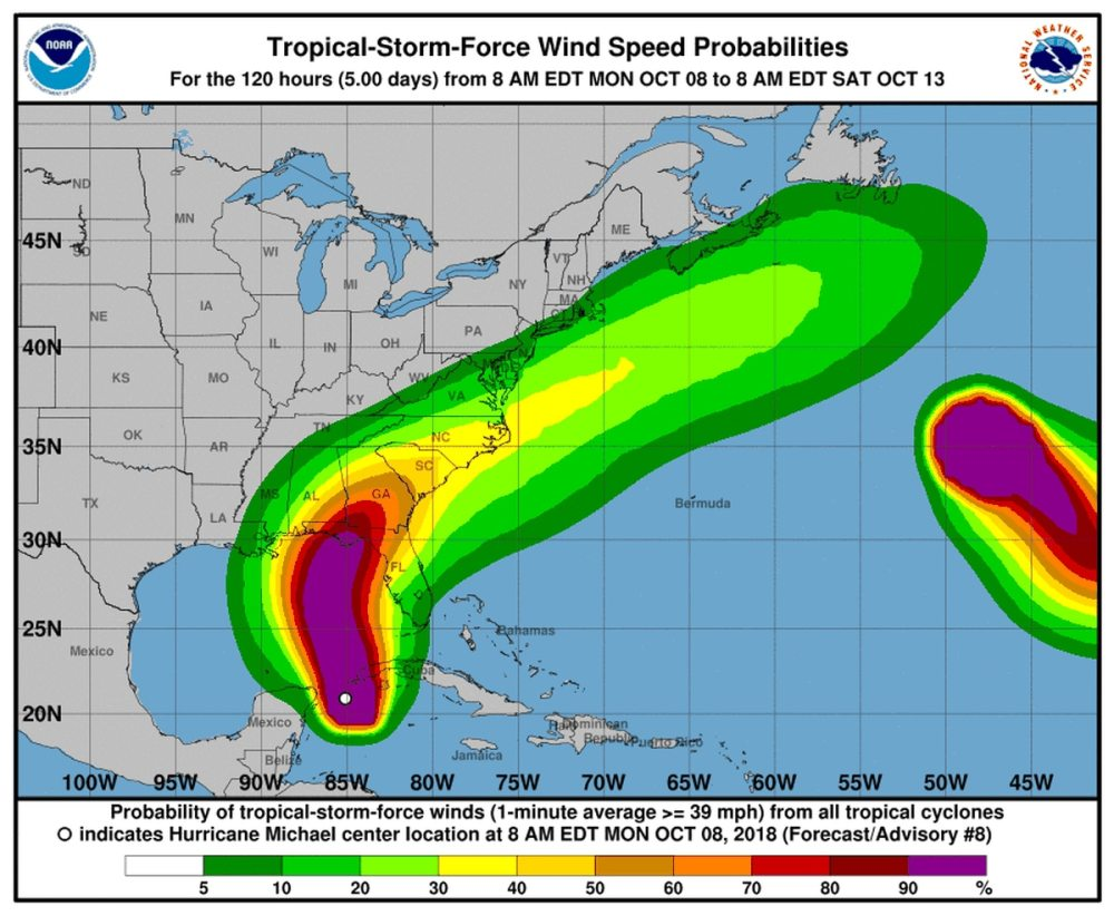 medium resolution of michael intensifies into category 1 storm expected to be dangerous hurricane when it makes landfall in florida