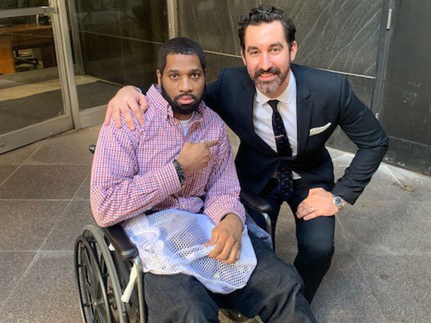 wheelchair fight daycare tables and chairs nyc inmate who fought jail staff over a for 3 1