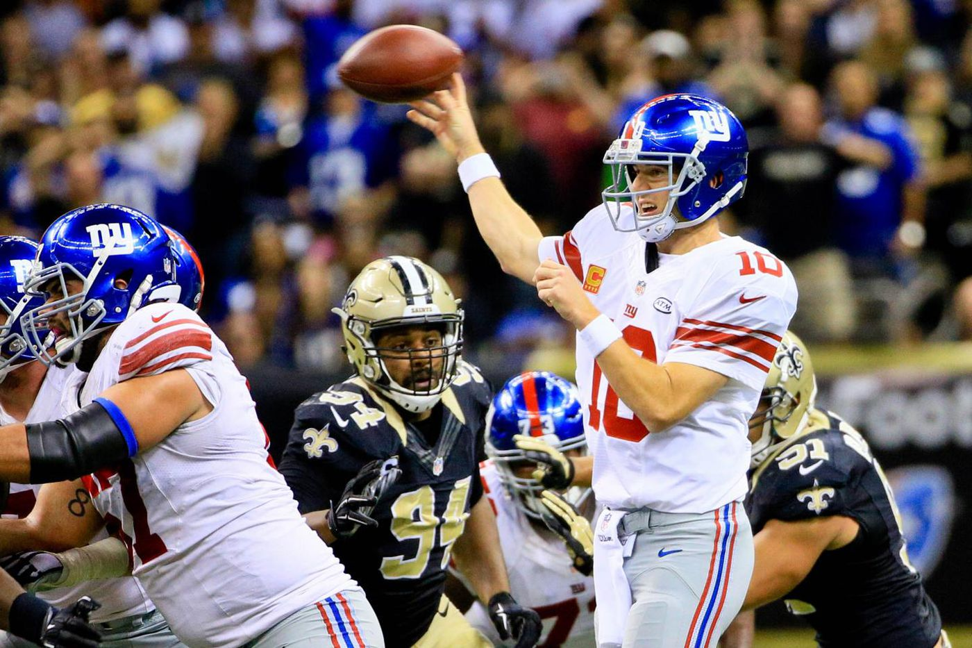 Image result for eli manning vs saints