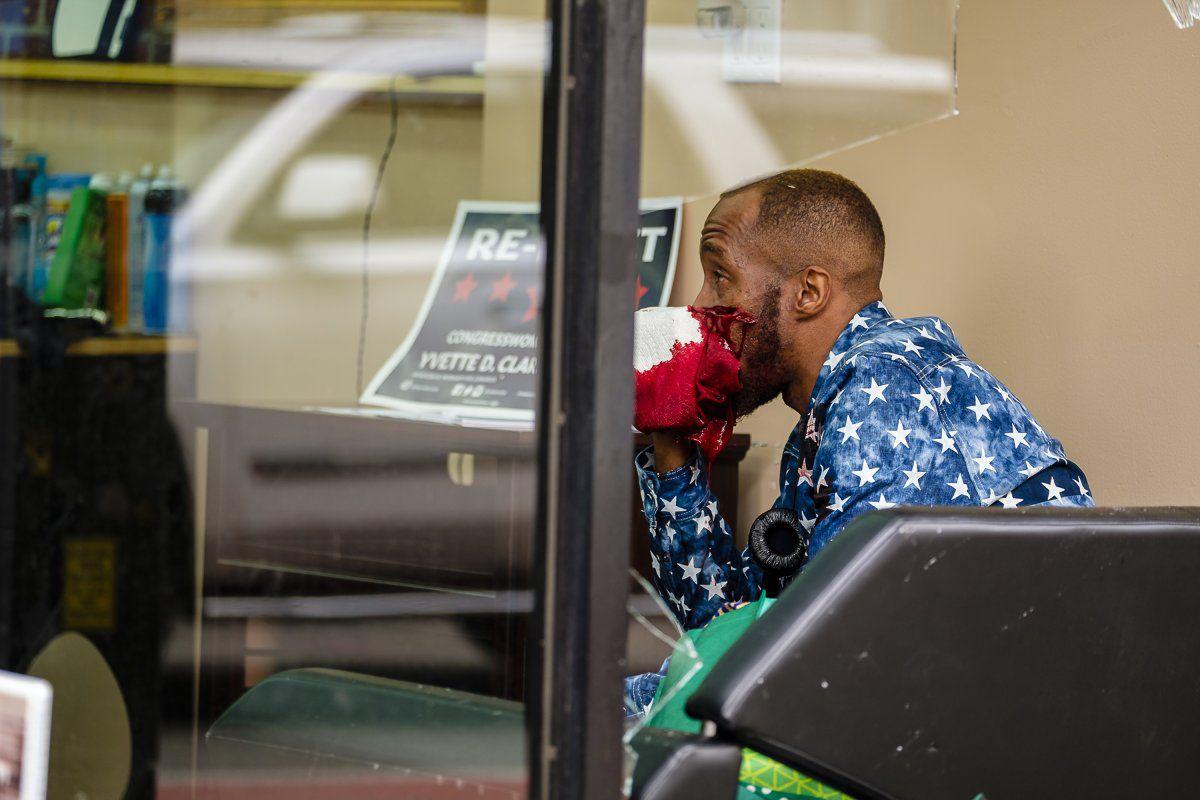 Brooklyn Barber Tosses Customer Through Window For