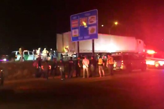 Ninety undocumented immigrants were found inside of the tractor trailer on Highway 77 near Raymondville, Texas.
