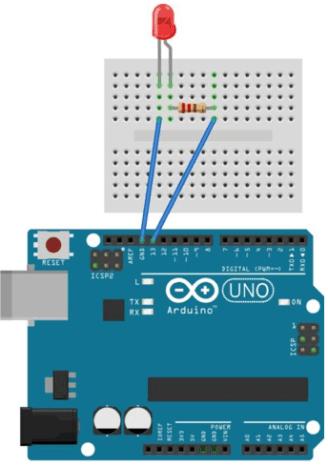 tutorial arduino mengakses led
