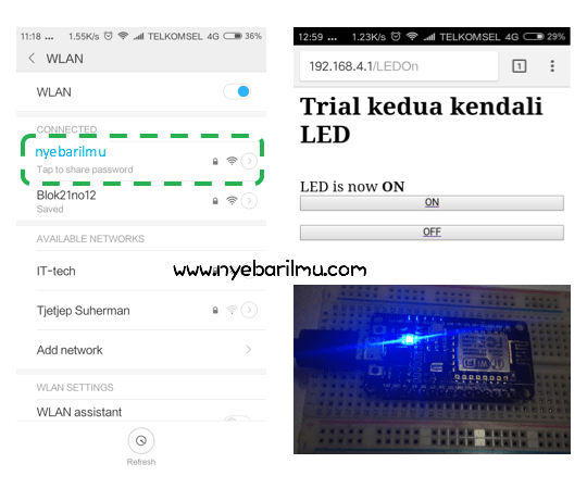 Tutorial NodeMcu kedua - Access Point