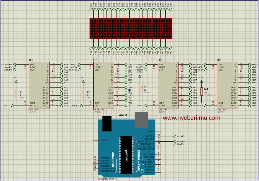 Tutorial Arduino membuat Running Text dot Matrix