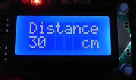 Sensor Ultrasonic dengan penampil LCD