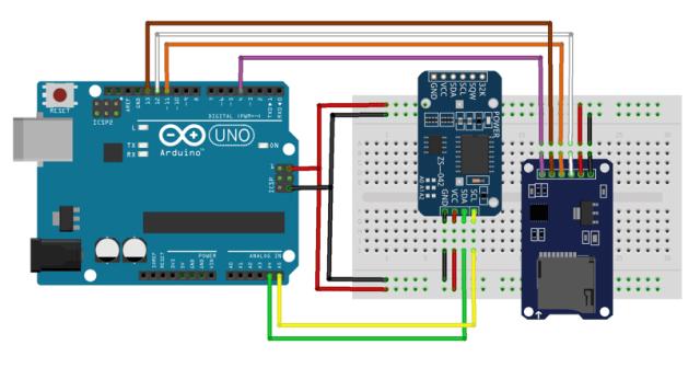 data logger arduino - DS3231 and module microsd