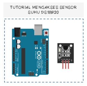 Thumbnail mengakses sensor suhu DS18B20