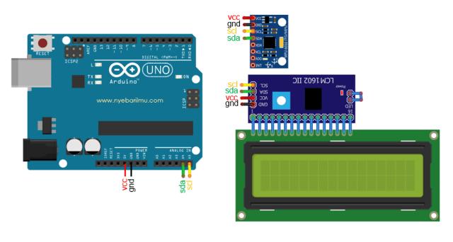 tutorial arduino uno mengakses module mpu6050