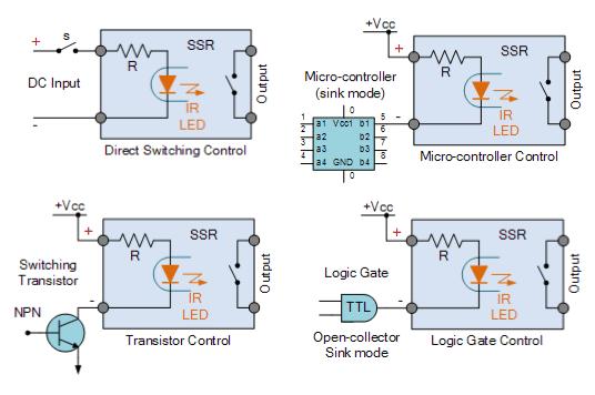 Konfigurasi pin Input Solid State Relay