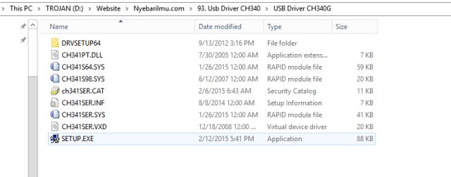 Ekstrak file ch340g driver
