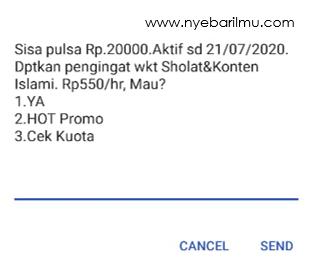 CEK SALDO PULSA GSM