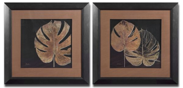 Uttermost 33571 Black Balazo Framed Art Set 2 250.80