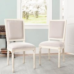 Safavieh Dining Chairs Ivory Leather Chair Mcr4516c Ashton Side Taupe Set Of Two 801 00