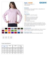 Gildan 18500B Youth Heavy Blend Sweatshirt $14.70 - Youth ...