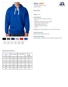 Specs sizing  also  america sport lace hooded sweatshirt men  rh nyfifth