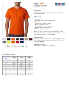 Specs sizing  also jerzees mp heavyweight blend short sleeve pocket  shirt rh nyfifth