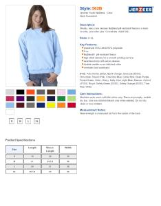 Specs sizing  also jerzees  nublend youth crewneck sweatshirt  fleece rh nyfifth