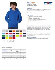 Specs sizing  also jerzees  youth nublend hooded sweatshirt  fleece rh nyfifth