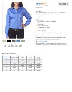 Specs sizing  also van heusen  ladies sateen broadcloth shirt women  rh nyfifth