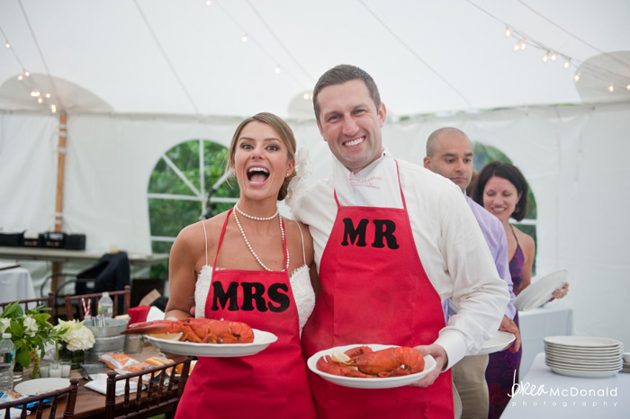 Wedding food truck catering lobster