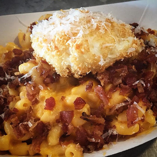 bacon mac and cheese mac truck nyc