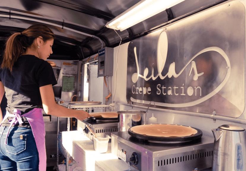 Best dessert food truck nyc Leila's Crepe Station
