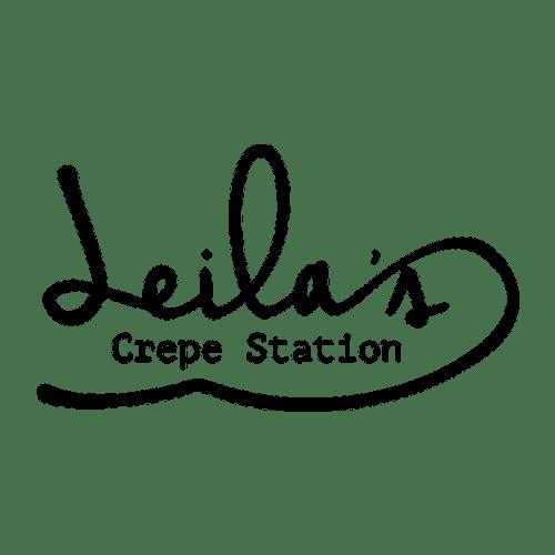 Leila's Crepe Station food truck logo