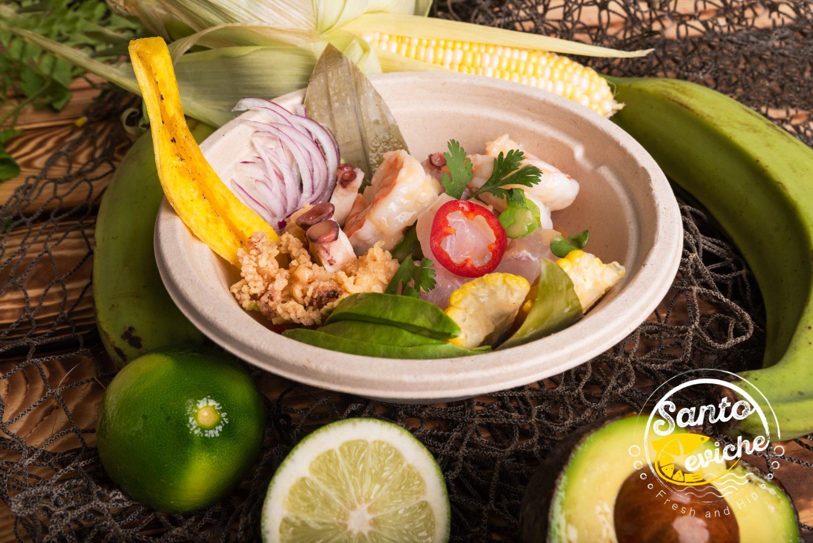 shrimp ceviche healthy food truck