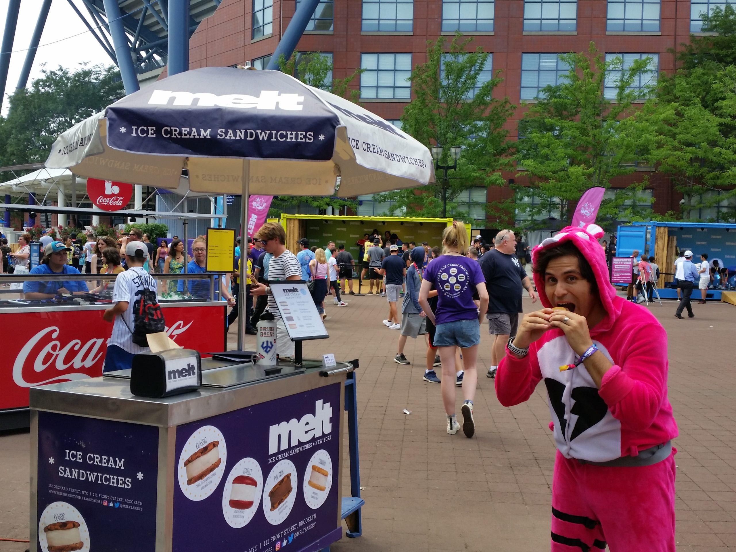 Melt ice cream cart catering nyc