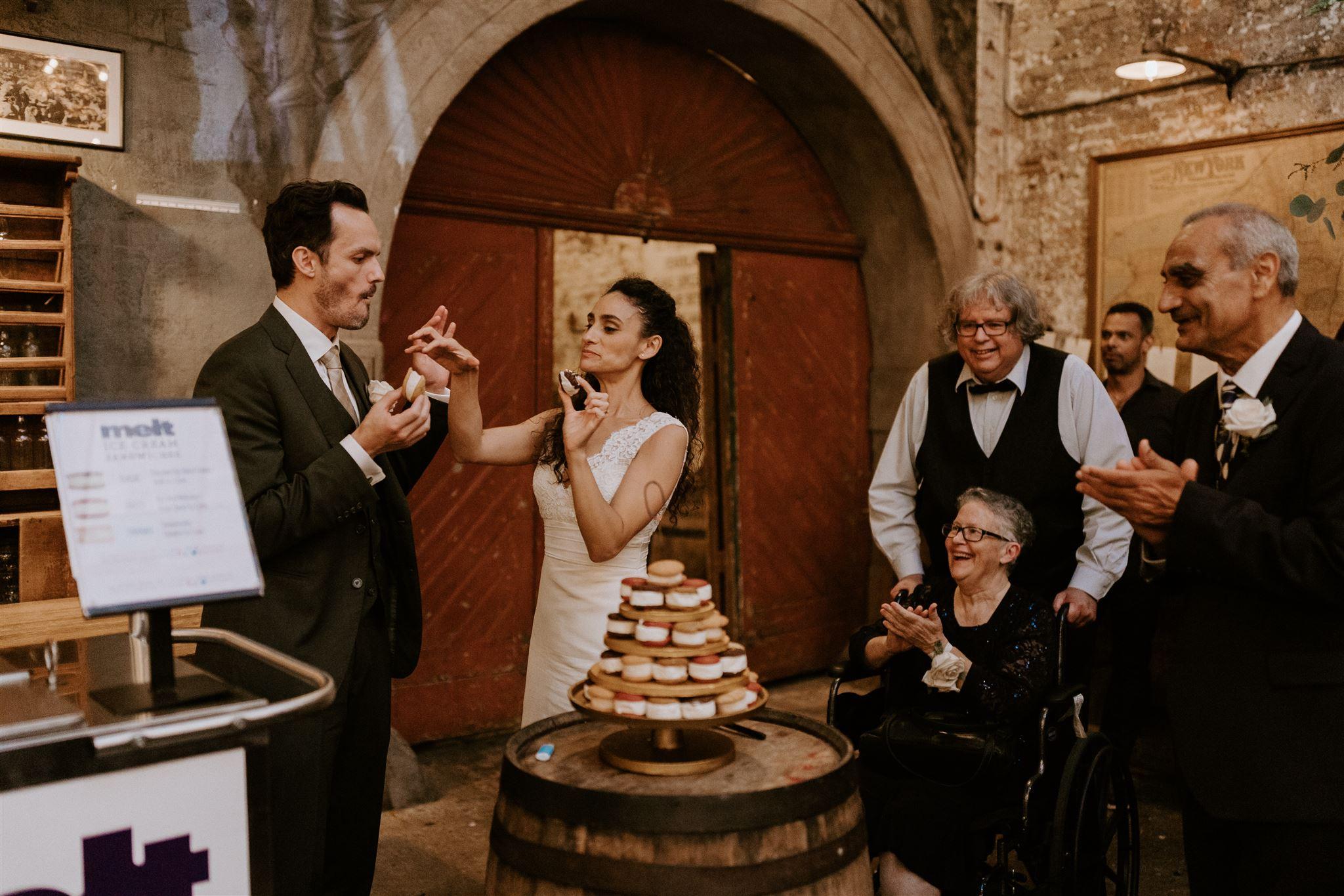 ice cream cart wedding catering