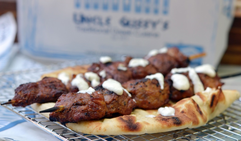 uncle gussy's greek catering pork souvlaki