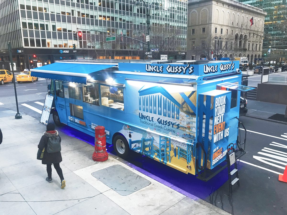 uncle gussy's greek food truck in new york