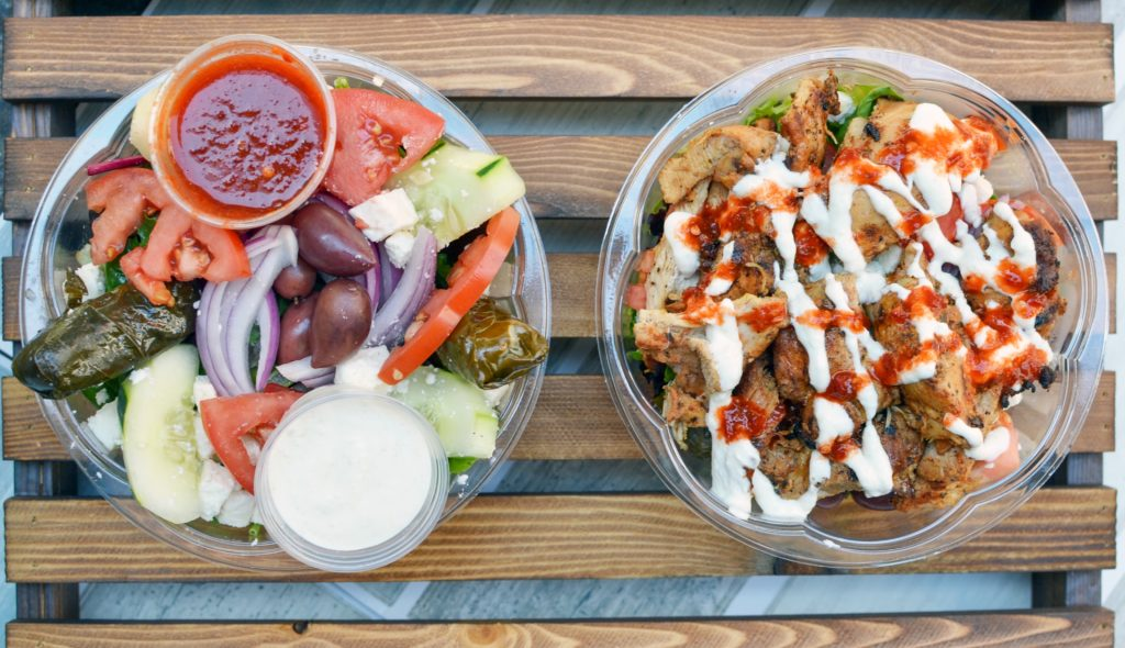 uncle gussy's greek food truck salads