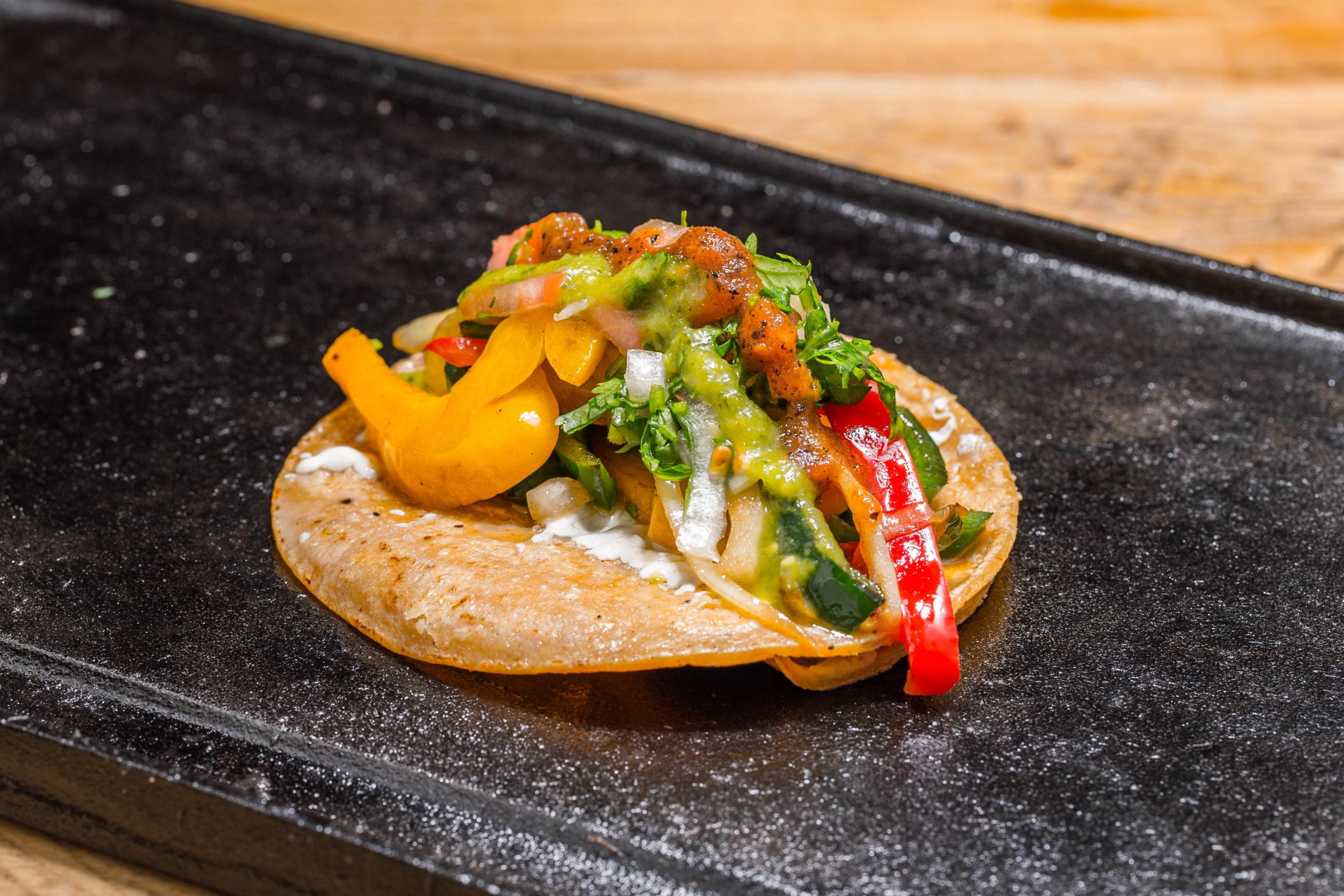 El Toro Rojo food truck Veggie taco