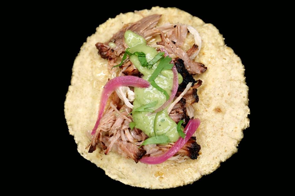Carlitos Tacos Pulled Pork Taco