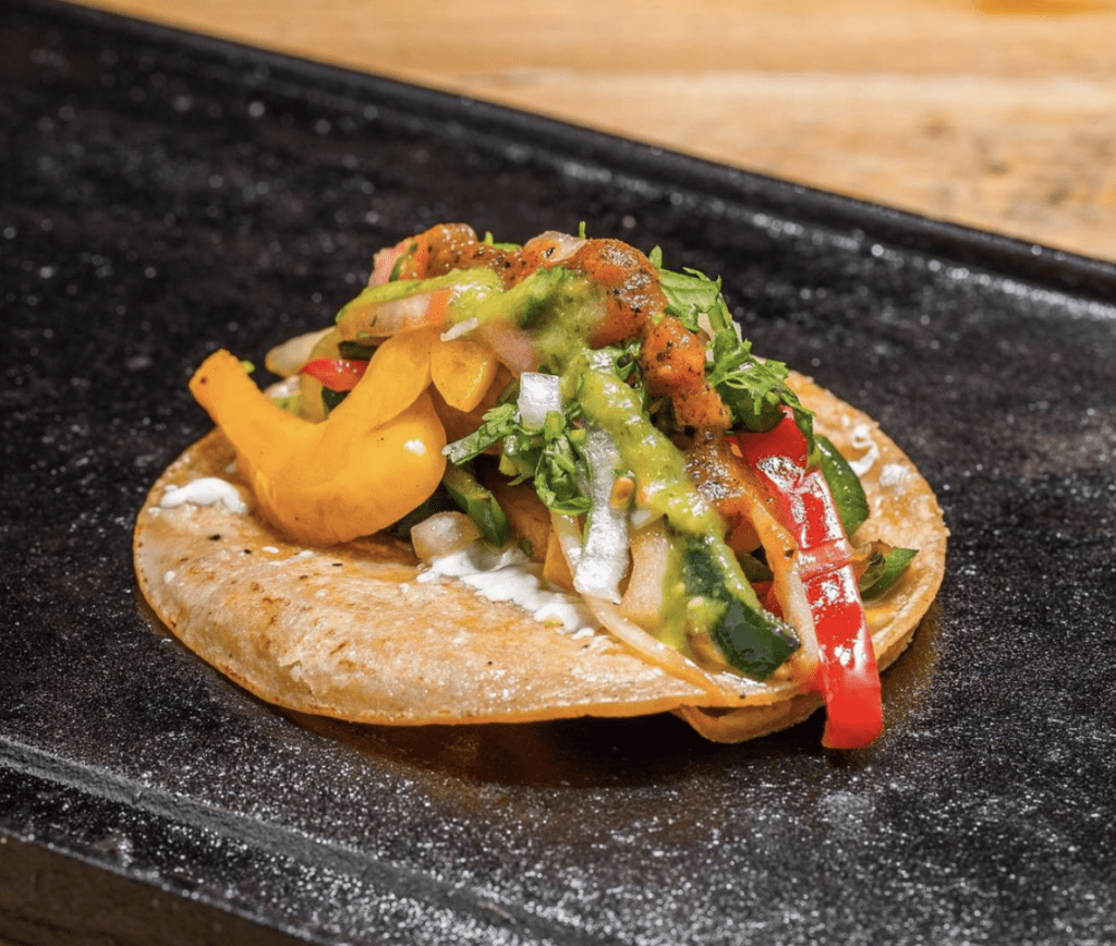 El Toro Rojo Veggie Tacos