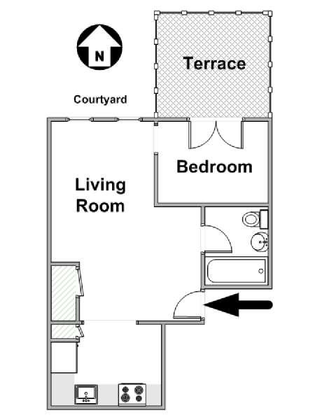 New York Apartment: 1 Bedroom Apartment Rental in Upper