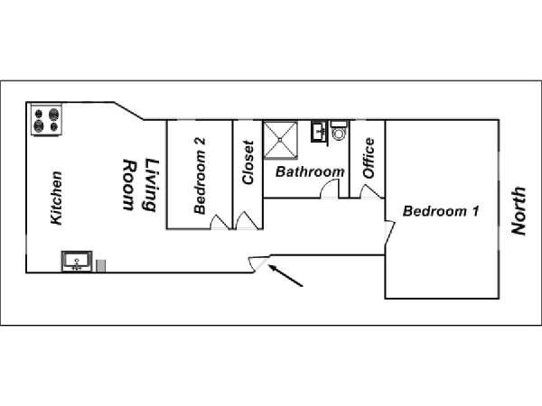 New York Apartment: 2 Bedroom Apartment Rental in Upper