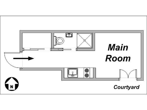 Paris Studio apartment - layout  (PA-3563)