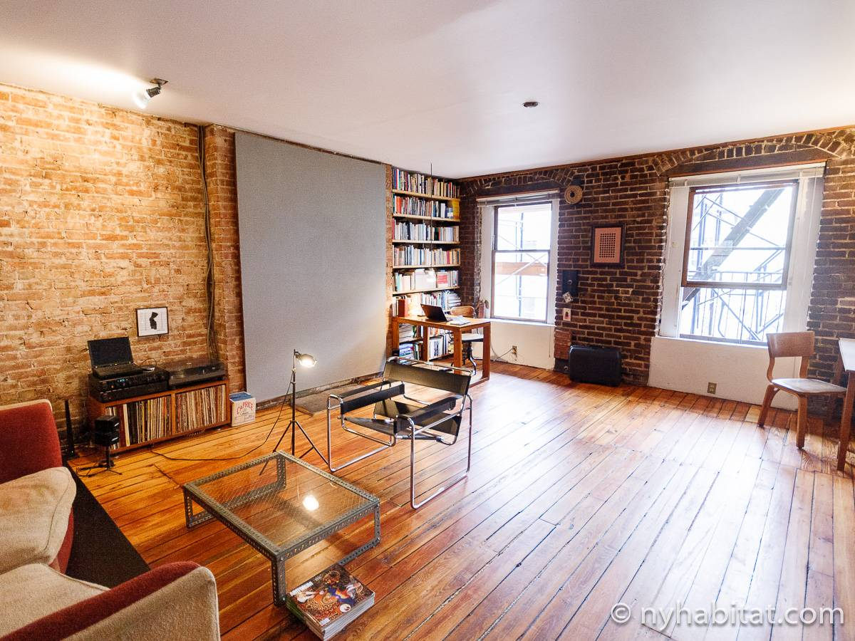 New York Apartment 1 Bedroom Loft Apartment Rental in Lower East Side NY16189