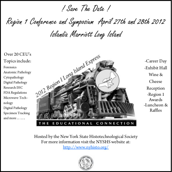 Region 1 Symposium: Save The Date!!